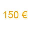 1 chèque de 150 €